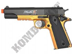 Project Z B-1911 Airsoft BB Gun Black and Bronze